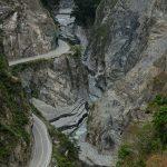 Silnice kaňonem na jihu Taiwanu