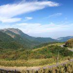 silnice v Yangmingshan NP, Taipei, Taiwan