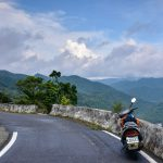 Vysokohorský průsmyk vedoucí do údolí Pinglin