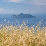 Výhled na želví ostrov za rozbřesku
