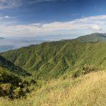 Výhled z hřebene Taoyuan severně od Yilanu