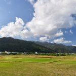 Rýžová pole a hory Yilan