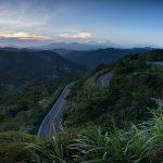 Výhled na Yangmingshan oblast Pinglin