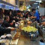 Japonské nudle na trhu v Taipei Shilin