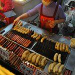 Taiwanské párky noční trh Shilin