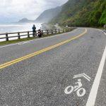 Pobřežní silnice jak dělaná pro cyklistiku