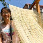Ruční výroba nudlí na Taiwanu
